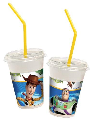 Preisvergleich Produktbild Toy Story Star Power Milchshake Becher Paket mit 12 Becher & 12 Trinkhalme & 12 Deckel