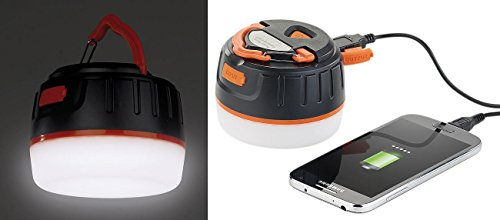 Semptec Urban Survival Technology Campingleuchte: 3in1-Campinglaterne mit Deckenlicht & USB-Powerbank, 5.200 mAh, IP65 (Camping LED)