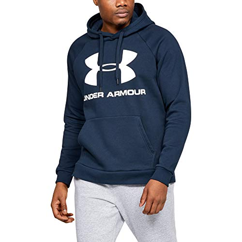 Under Armour Rival Fleece Sportstyle Logo, Felpa Uomo, Blu, XL