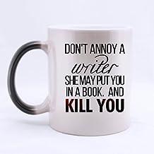 No Molesta un escritor niña regalos para Writer- taza de Magic Morphing Taza 11oz Tazas de café o taza de té Cool cumpleaños/Navidad regalos para hombres, mujeres, él, niños y niñas