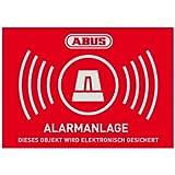 Autocollant alarme d'avertissement - D 74 x 52,5 mm