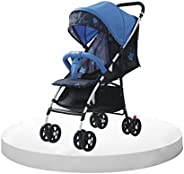Cutieco Large Seating Capacity Travel-Friendly Baby Stroller Buggy for Baby/Kids, 0-3 Years (Blue)