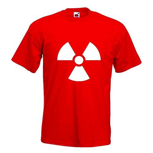KIWISTAR - Radioaktiv T-Shirt in 15 verschiedenen Farben - Herren Funshirt bedruckt Design Sprüche Spruch Motive Oberteil Baumwolle Print Größe S M L XL XXL Rot