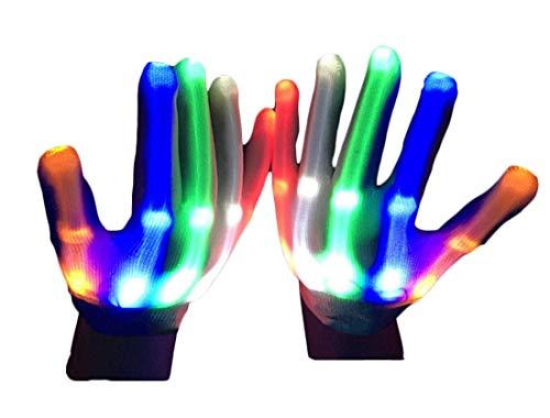 (Cimic Blinkende Handschuhe, Coole Bunte Party-Fave-Handschuhe für Kindergeschenke für Partys, Weihnachtsfeiern und Lichtshow)