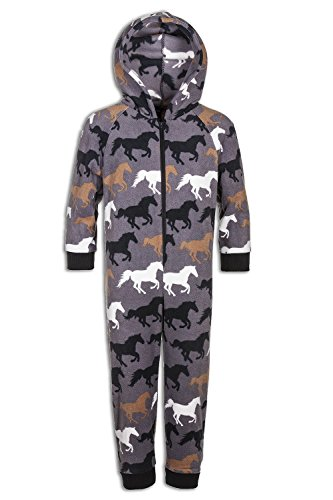 Kinder Schlafanzug-Einteiler Weiches Fleece Pferde-Design 4-5 Years