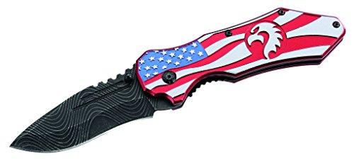 Herbertz Couteau de Poche, Finition en Acier AISI 420, délavé, Liner Lock, Bols au Design américain en Aluminium, Clip en Acier Inoxydable