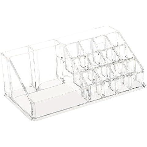 Anself Caja de Cosméticos Organizador de almacenamiento de accesorios de joyas acabado de escritorio de cristal