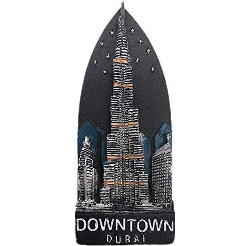 Kühlschrankmagnet Nacht Burj Khalifa Dubai 3D Harz Handgemachtes Handwerk Tourist Travel City Souvenir Sammlung Brief Kühlschrank Aufkleber