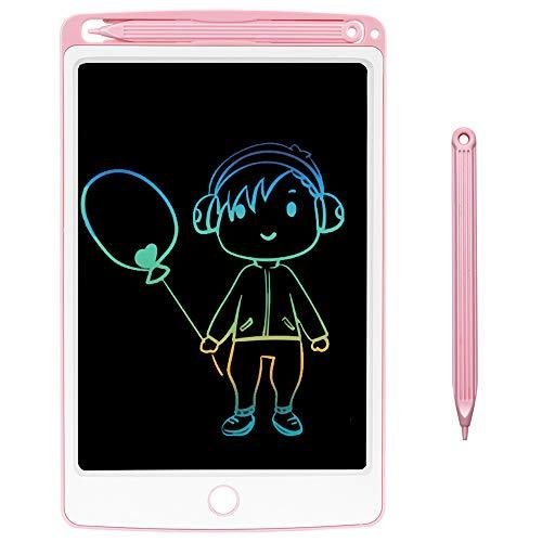 NOBES LCD Tablette D'écriture 8.5 Pouces, Ardoise Magique Tableau Portable pour l'écriture et Le Dessin sans Papier,Enfants et Adultes Écriture Dessin,Jouet Educatif,électronique Board (Rose Coloré)
