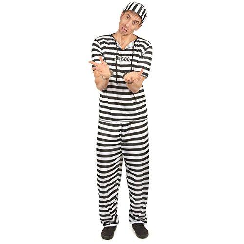 gestreift gestreift Gefangene Kostüm verkleidet One (Verkleidet Kostüm)