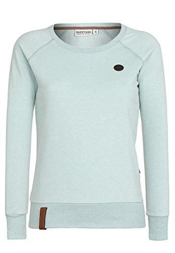 Naketano Female Sweatshirt Krokettenhorst, Milky Green Melange, Gr. XL