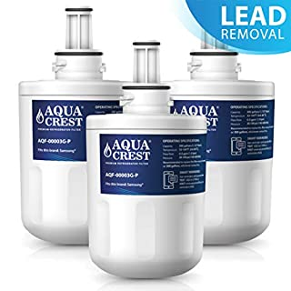 AQUACREST DA29-00003G NSF 53&42 Fridge Water Filter, Compatible with Samsung AquaPure Plus DA29-00003G, DA29-00003F, DA29-00003B, DA29-00003A, HAFIN2/EXP,HAFCU1/XAA, DA97-06317A, WF289,APP100/1 (3)