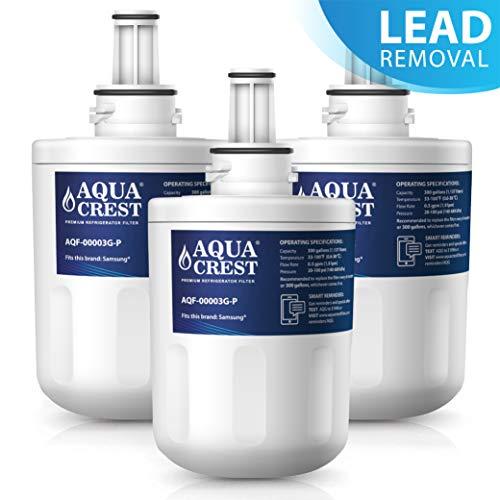 Aquacrest da29-00003g nsf 53&42 filtro acqua frigorifero, compatibile con samsung aqua pure plus da29-00003g, da29-00003b, da29-00003a, da97-06317a, hafcu1/xaa, hafin2/exp (3)