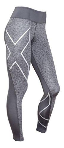 2XU Women's Compression Perform Compression Shorts, Womens, Compression Shorts PERFORM, Dark Slate/Bone Print