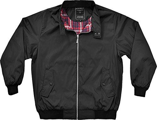 Da uomo Grandi Dimensioni estate giacca giacca leggera antivento 2X L a 5X L Black