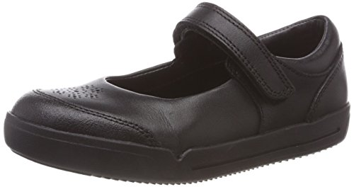 Clarks Mini Sky, Bailarinas para Niñas, Negro Black Leather, 31 EU