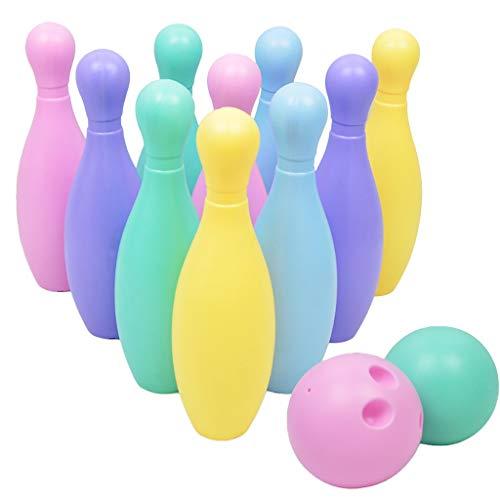 YIHANK Bowling Kegelspiel Kinder Set Bowling-Spiel Bowlingkugel Indoor Pädagogische Spielzeug mit 2 Bälle und 10 Kegel - Stärkung der Eltern-Kind-Interaktion (Mehrfarbig)