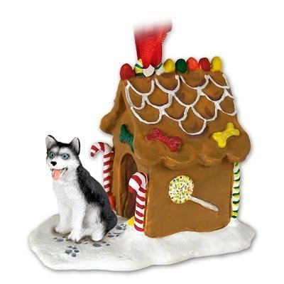 Siberian Husky Dogs Gingerbread House Christmas Ornament New Gift by Conversation Concepts
