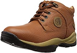 Redchief Mens Elephant Tan Leather Trekking and Hiking Outdoor Boots - 8 UK (RC2055 107)