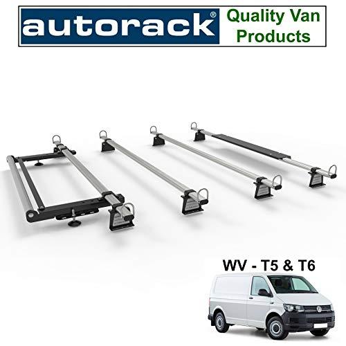Transporter T5 & T6 Van Dachträger - Autorack WorkReady - 4 Stangen mit Rollenset