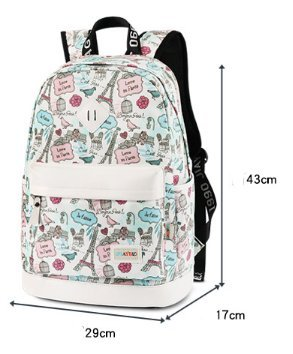 Gro?e kapazit?t leichte schulter tasche, canvas printing student bag-A A