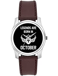 BigOwl Legends Are Born In October Birthday Gift For Him Fashion Watches For Girls - Awesome Gift For Daughter...