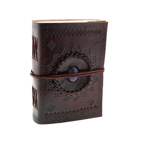 fair-trade-indra-quaderno-ricoperto-in-pelle-110-x-160-mm-medio-con-goffratura-e-pietre-semi-prezios