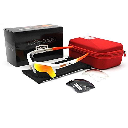 ANSKT Fahrradbrille Fahrradpolarisationsbrille Motorradbrille mit 2 Wechselgläsern, Herren- und Damenfahrradbrille @ 1