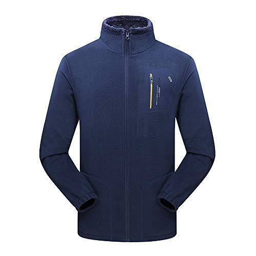 Beonzale Herren Herbst Winter Outdoor Verdickung Korallen Fleece Stehkragen Sport Outdoor Funktionsjacke Freizeitjacke Sportswear Mantel