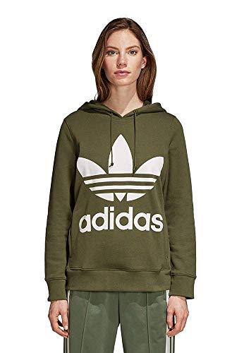 adidas Trefoil Sweatshirt, Damen L Grün (verbas)