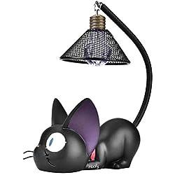 Lámpara de Escritorio lámpara de Mesita de Noche luces de noche de Gato para Leer para regalo de los niños(Round)