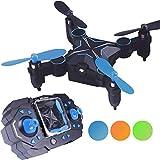 9 Minuten Flugzeit Foldable Mini Drone, Klappbare Arms Pocket Drohne (Höhe-Hold-Modus, Headless-Modus, 360-Grad-Drehung) RC Drohne Quadrocopter Spielzeug Drone für Kinder Anfänger von LITEBEE