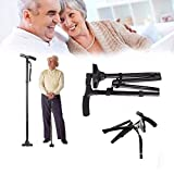 Tallin Walking Stick for Old People Easy 2 Handled Folded with Light, Multi Colour (Multi)