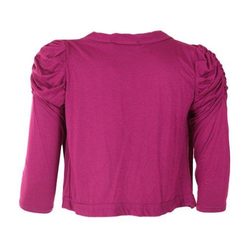 Donna Vintage Militare Button Down Bolero Coprispalle Cardigan a maniche lunghe da donna Top 8–14 Rosso