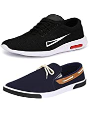 Bersache Men's Multicolor Combo Pack of 2 Canvas Casual