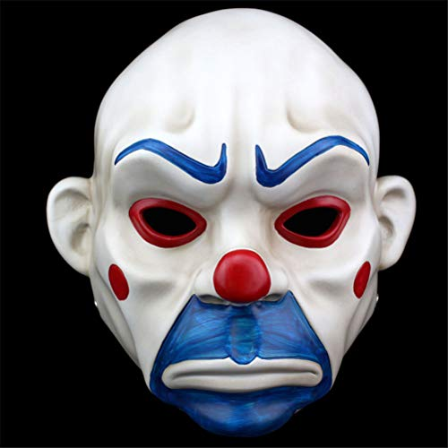 TTXLY Halloween Maske Harz Maske Clown Maske Raub Horror Masken Clown Räuber Maske