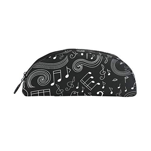 el Art Symbol Music Note Halbkreis für Jungen Kinder Teens Stifthalter Kosmetik Make-up Tasche Schreibwaren Beutel Beutel Große Kapazität ()