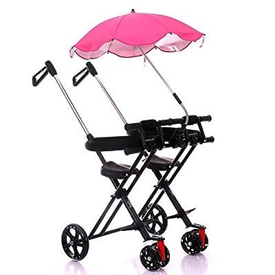 CHEERALL Sillitas gemelas con sombrilla ? Paraguas Doble Cochecito/Cochecito/Buggies con Putter Ajustable para Viajar con niños de 1 a 5 años de Edad