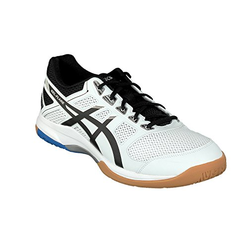 Asics Hallen-Schuh Gel-Flare 6 M, Chaussures de Volleyball Homme Blanc (White/black/blue 000)