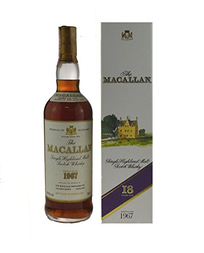 The Macallan Whisky Jahrgang 1967, Originalabfüllung incl. Geschenkkarton - Pure Highland Malt Scotch Whisky
