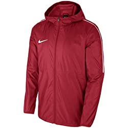 Nike Men Dry Park 18 Rain Jacket - University Red/White/White, Large