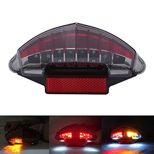 433dd658b2 AnXin, fanale Posteriore a LED per Moto, luci di Segnale di Freno, per
