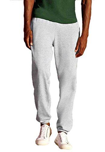 pantalone-tuta-cotone-uomo-con-fondo-stretto-fruit-of-the-loom-pantaloni-felpati-colore-grigio-tagli