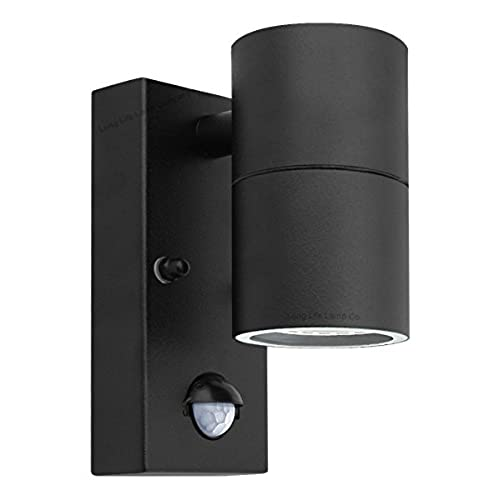 Single wall lights amazon black pir stainless steel single outdoor wall light with movement sensor down outdoor wall light mozeypictures Images