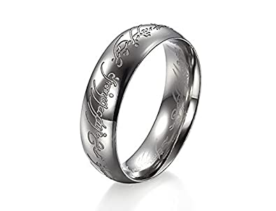 GirlZ Lord of the rings Ring for Men Silver Amazonin Jewellery