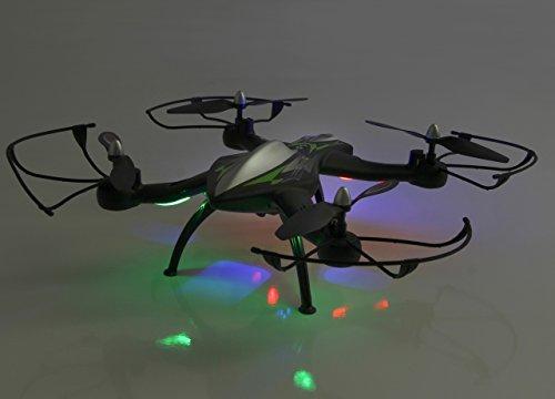 Jamara 422021 - F1X VR Altitude FPV Wifi Kompass Flyback - Race Drone, inklusiv VR-Brille, über Sender und App steuern, 3 Geschwindigkeiten, 40 KM/h, Höhenkontrolle (Barometer) und Rückflugautomatik - 3