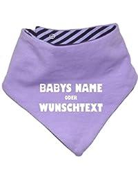 mitwachsendes Baby - und Kinder Wende - Halstuch mit Ihrem Wunschdruck/in 7 Designs/Größen 0-36 Monate