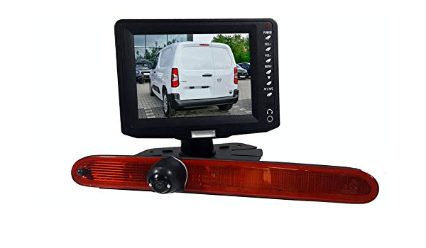 Rear View Camera 3 Brake Light Compatible With Opel Combo Citroen Berlingo And Peugeot Rifter Partner From Year Of Manufacture 2018
