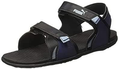 Puma Men's Croatia Idp Black-Peacoat-Faded Den Outdoor Sandals