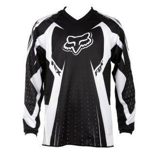 Fox Jungen Race HC Long Sleeve Jersey, Jungen, schwarz (Jersey Hc)